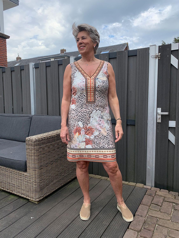 K-design - Bloem, tijger print, jurk